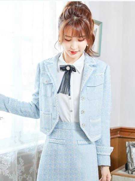 莉雅莉萨女装品牌2020秋冬日系小清新学院风套装