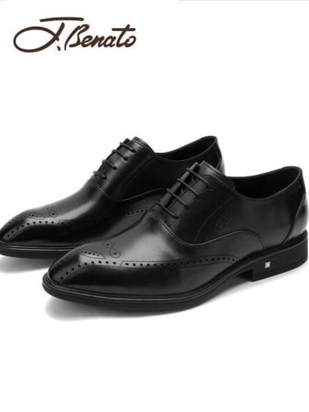 宾度鞋帽/领带品牌2020秋冬新款男士商务正装鞋布洛克雕花皮鞋绅士男鞋婚鞋