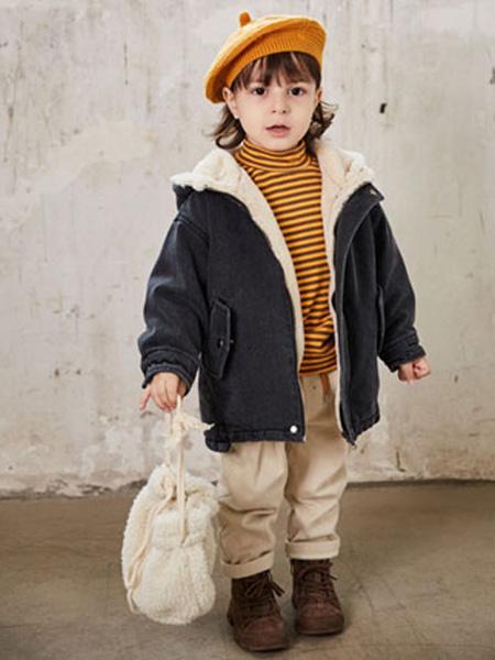 幼米童装品牌2020秋冬女童双面呢加绒加棉外套