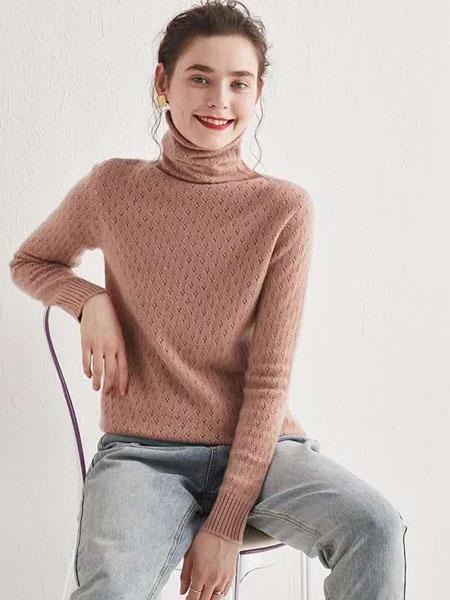 米亚康女装品牌2020秋冬高领羊绒针织衫