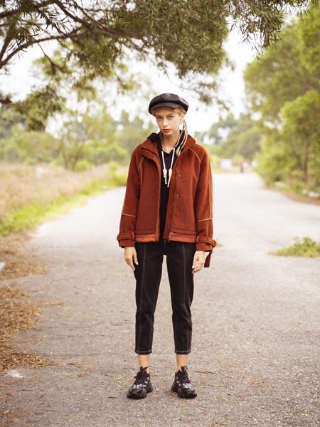 薇薇希女装品牌2020秋冬卡其色羊绒夹克外套