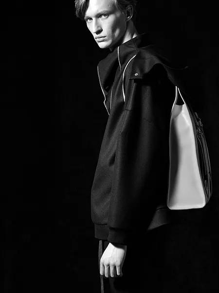 Ziekmess男装品牌2020秋冬潮流黑色立领卫衣