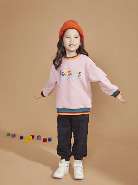 BBCQ kids童装品牌2020秋冬女童粉色字母印花卫衣