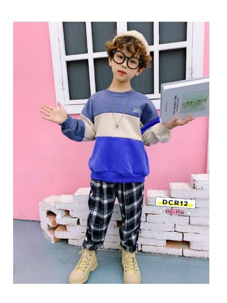 城市稻草人品牌童装潮牌冬装男童卫衣中大童套头儿童卫衣加绒加厚