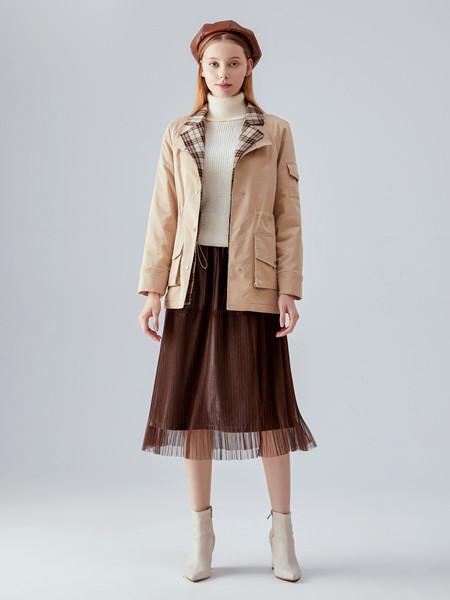 凡恩女装品牌2020秋冬快时尚双面纯色外套