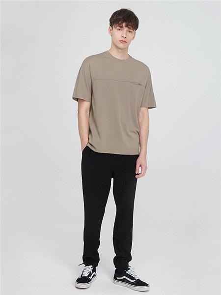 元本男装品牌2020春夏素色圆领T恤