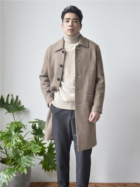 AIVIDICSTUDIO男装品牌2020秋冬日系纯色长袖长款外套