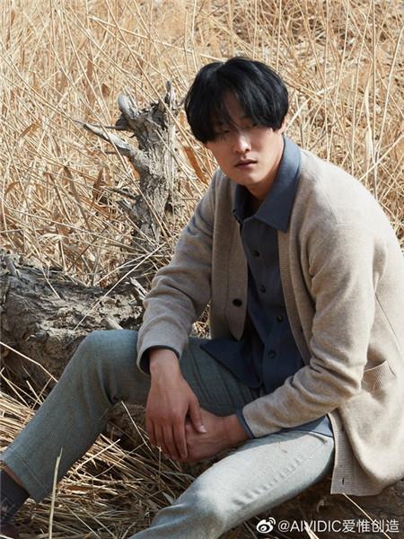 AIVIDICSTUDIO男装品牌2020秋冬针织米色长袖外套