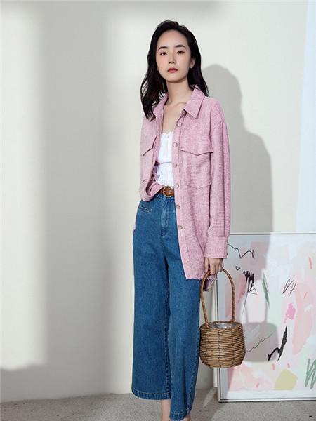 Kira&Yanng女装女装品牌2020秋冬粉色立领外套