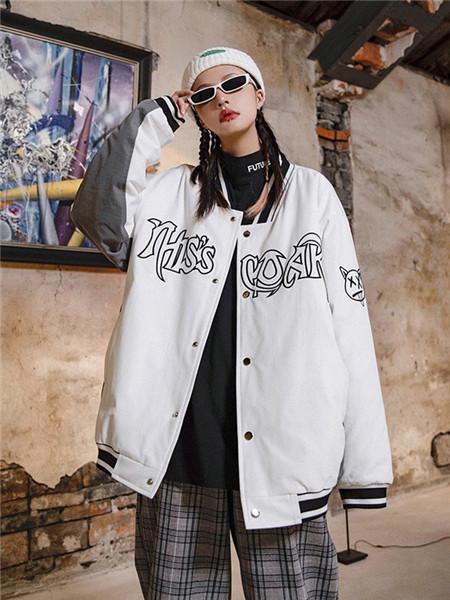 柯达芮特女装品牌2020秋冬字母白色薄外套
