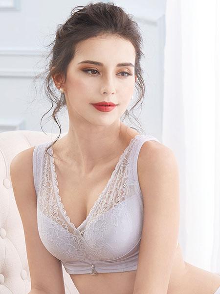愛可登內衣品牌2020秋冬花邊鏤空白色內衣