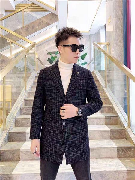 萨卡罗S.ALCAR男装品牌2020秋冬潮流黑色西装外套