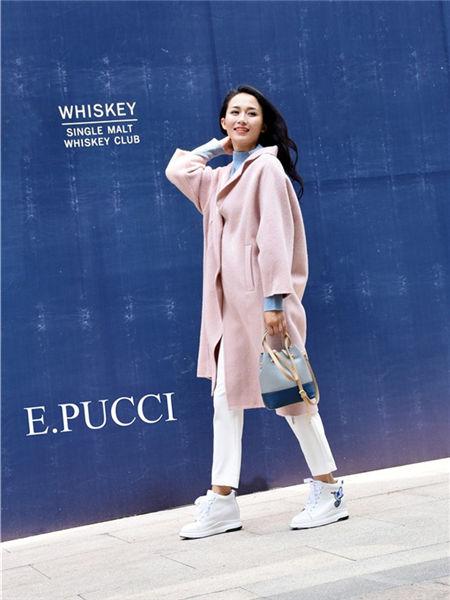艾璞琪女装品牌2020秋冬粉色潮流长款外套
