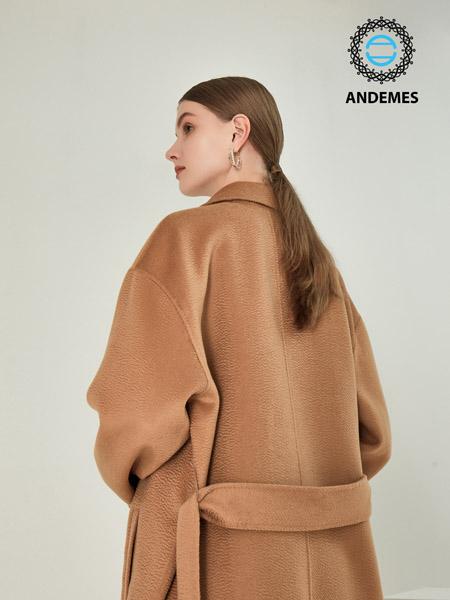 ANDEMES女装品牌2021春夏文艺范休闲毛呢外套
