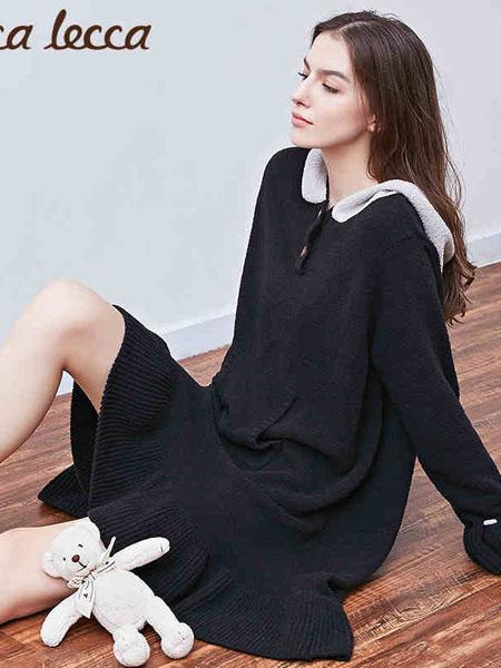 拉可莉卡内衣品牌2021春夏可爱卡通荷叶边针织睡裙