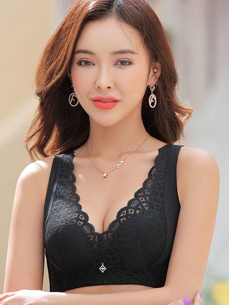 玉姿一族内衣品牌2020秋冬花边蕾丝黑色内衣