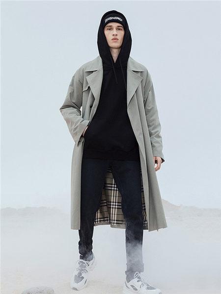 DULILOAD多尼路男装品牌2020秋冬经典格纹内衬保暖长款风衣