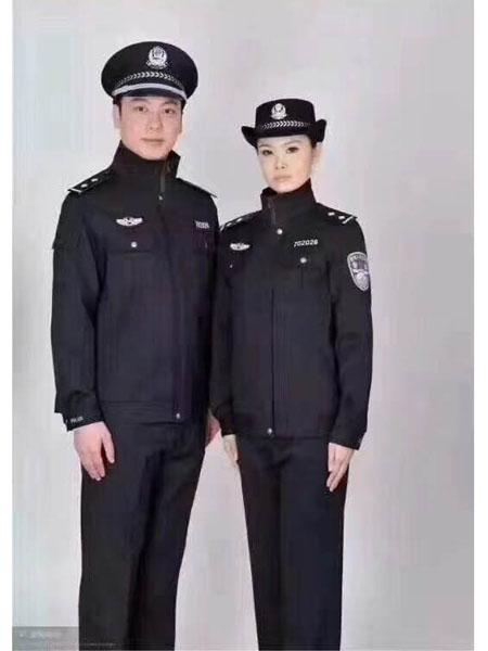 依腾制服/工装品牌经典黑色通勤风保安服