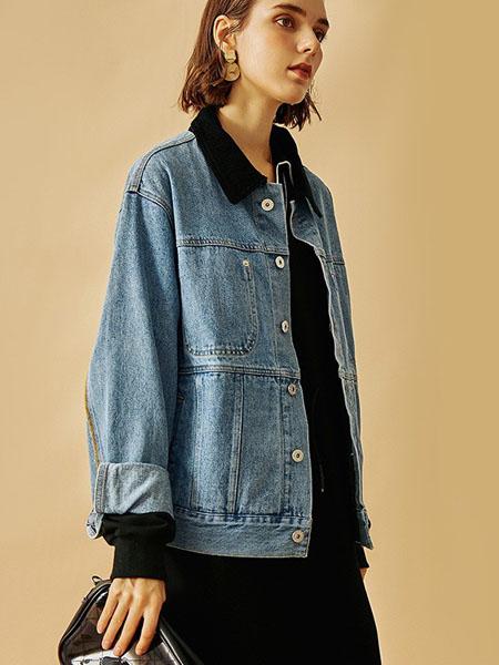 云上写生女装品牌2021春夏韩版潮流宽松牛仔外套
