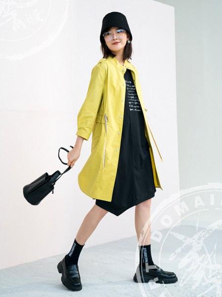 ART艺域女装品牌2020秋冬黄色活力青春薄款风衣
