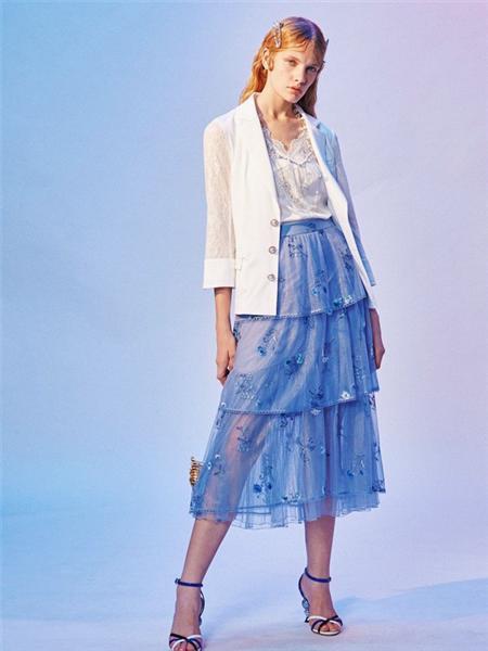 JETEZO女装品牌2021春夏弹力腰身韩版网纱半身裙