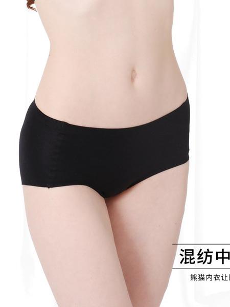 熊猫内衣品牌混纺中腰女士角裤
