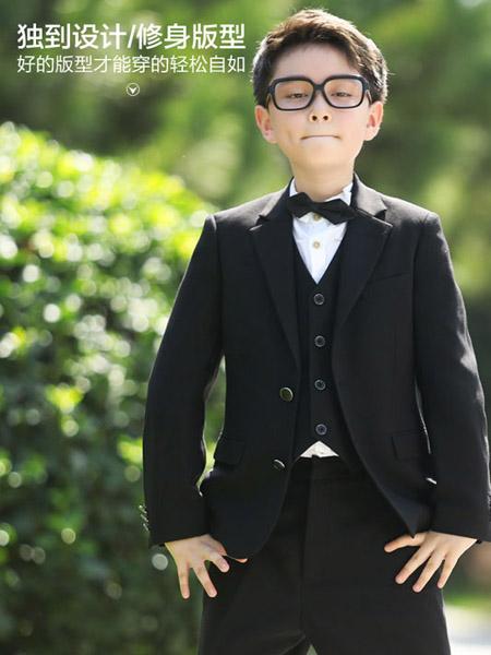 汤尼古其服装定制品牌黑色独到设计修身版型小西服