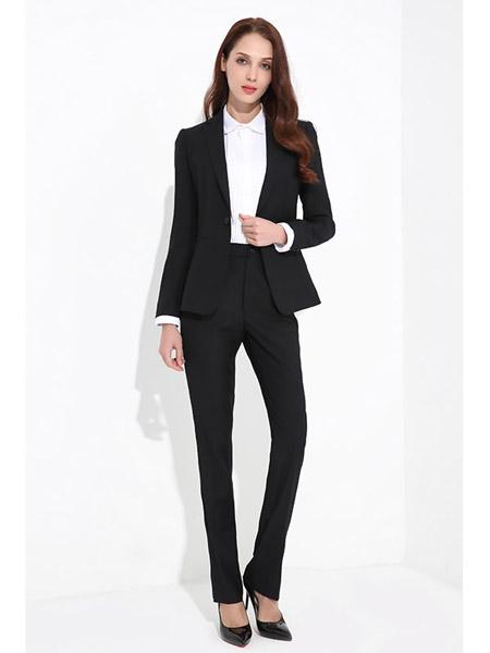 汤尼古其服装定制品牌黑色显瘦潮流女士西服