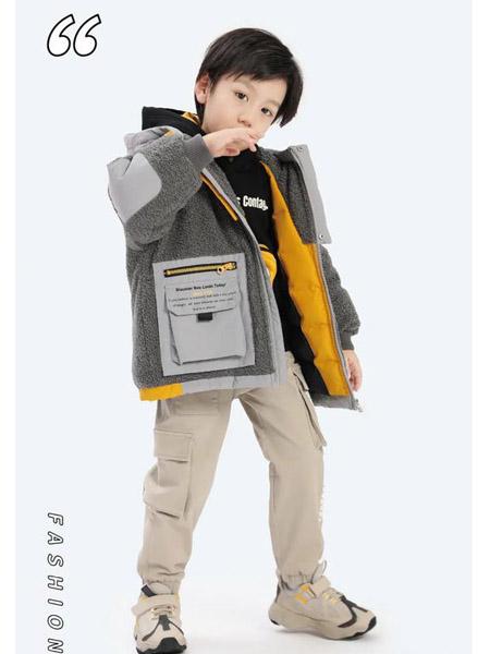 以纯童装童装品牌2020秋冬方袋工装风毛绒外套
