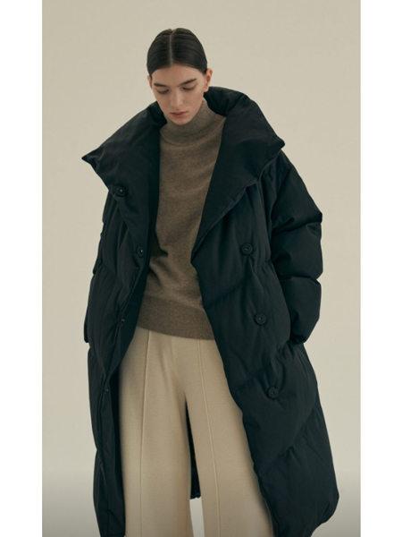 艾匹思女裝品牌2020秋冬黑色簡約INS風長款OVERSIZE羽絨服