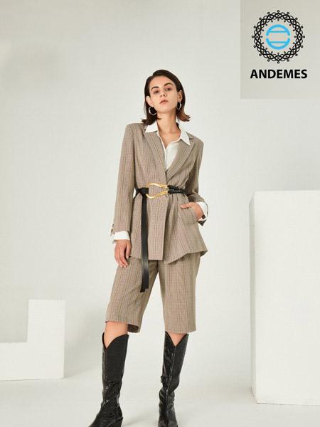 ANDEMES女装品牌2020秋冬休闲快时尚束腰套装