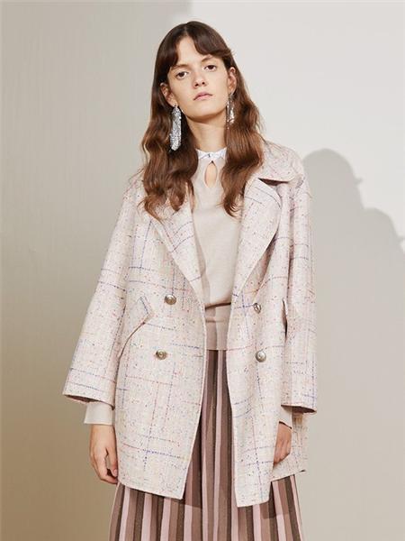 碧淑黛芙女装品牌2020秋冬复古文艺风翻领西服外套