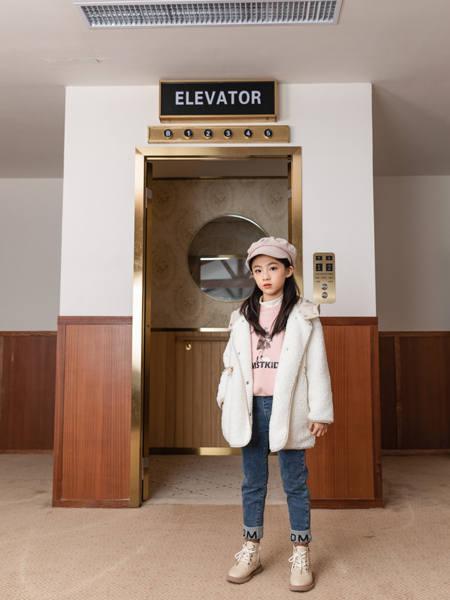 卡尔菲特童装品牌2020秋冬韩版长袖羽绒服中长款外套