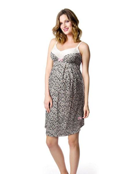 法蘭朵內衣品牌2020春夏寬松舒適吊帶孕婦裙