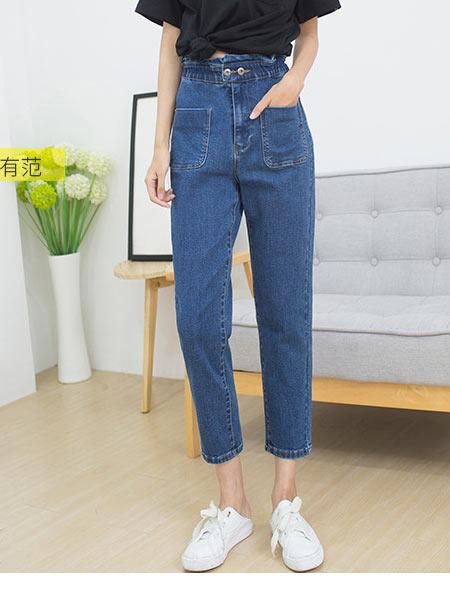 Fengbo牛仔品牌2020新款韩版牛仔长裤女时尚百搭松紧腰显瘦女长牛仔裤