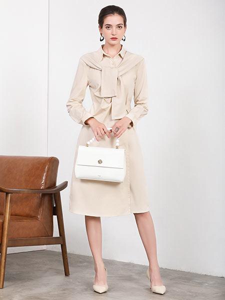 joy speaker桔尚女装品牌优雅连衣裙