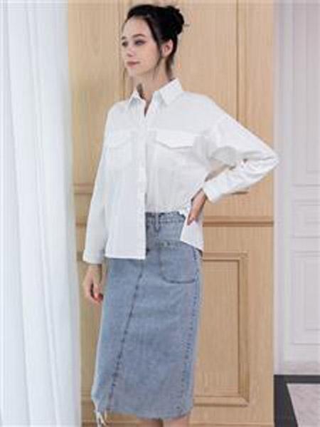 艾诺绮女装品牌2020秋冬白色衬衫
