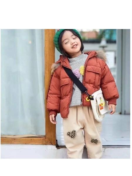 乐果果中小童羽绒服批发韩版棉袄专卖店品牌童装货源厂家直供