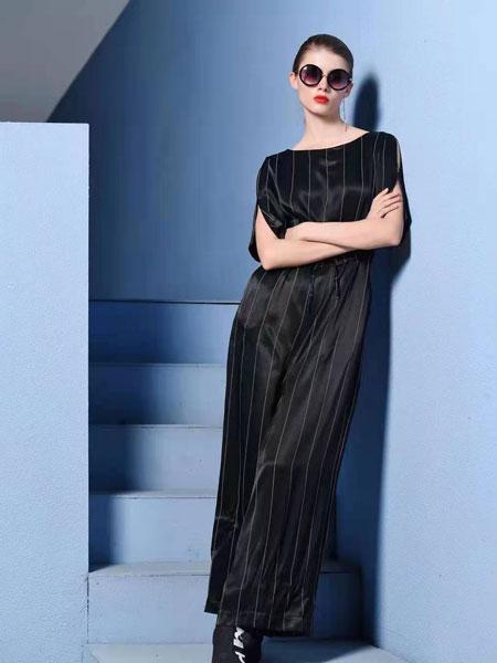 例格女装品牌2021春夏黑色OL商务