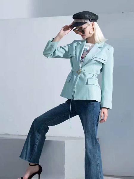 例格女装品牌2021春夏商务原宿长袖