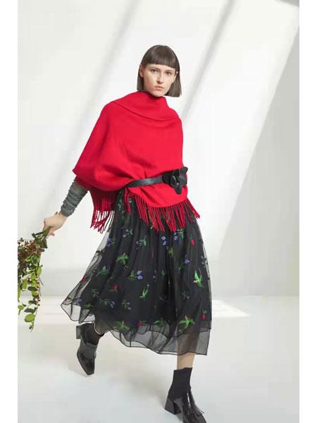 卡汶女装品牌2021春夏红色休闲不规则