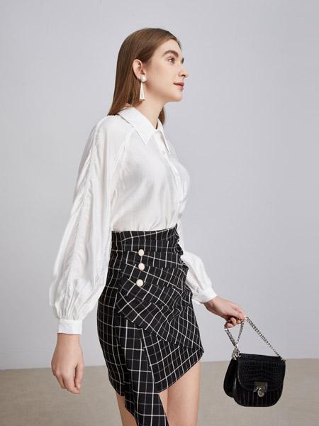 城市衣柜女装品牌2021春夏白色OL衬衫