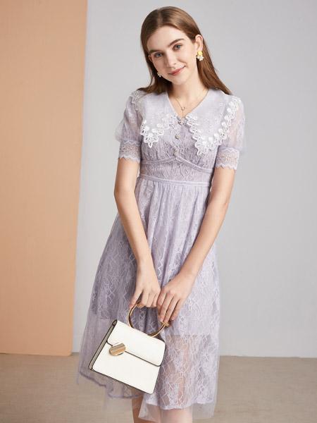 城市衣柜女装品牌彩38平台2021春夏日系快时尚连衣裙