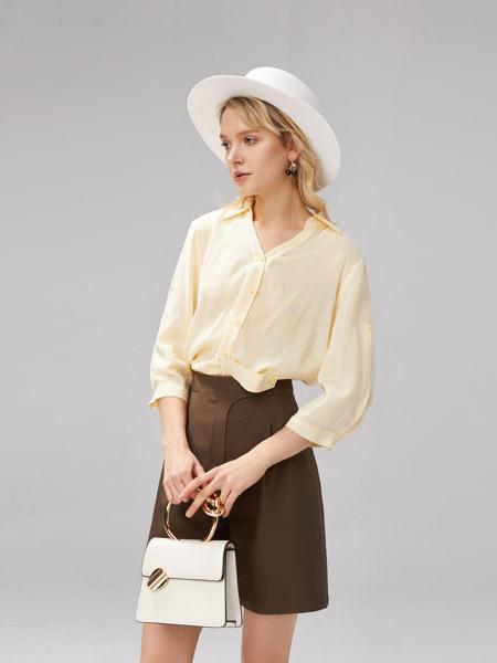 U-Cevel女装品牌2021春夏俏皮撞色两件套