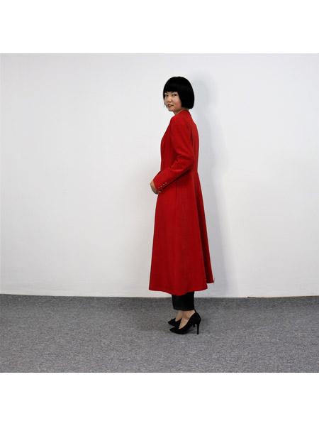 靓漫蒂女装品牌2021春夏红色俏皮中长款外套