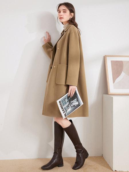 春美多女装品牌2021春夏淑女百搭中长款外套