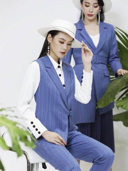 JAOBOO 乔帛2021春夏蓝色OL俏皮商务女装