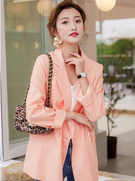 樱语茉莉女装品牌2021春夏橘色俏皮套装