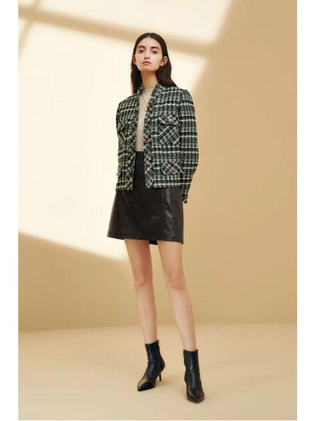 恩瑞妮女装品牌2021春夏短款外套长袖