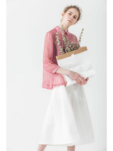 庄玛女装品牌2021春夏粉色棉麻